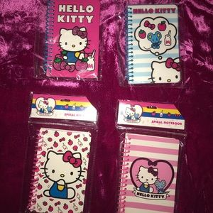 Hello Kitty spiral notebook lot of 4